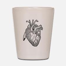 Anatomical Heart - Black Shot Glass