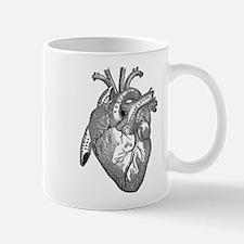 Anatomical Heart - Black Mugs