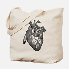 Anatomical Heart - Black Tote Bag