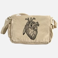 Anatomical Heart - Black Messenger Bag