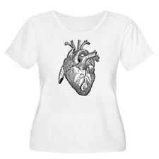 Anatomical Heart - Black Plus Size T-Shirt