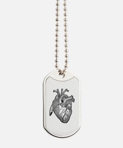 Anatomical Heart - Black Dog Tags