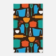 Kitchen Tool Pattern 3'x5' Area Rug