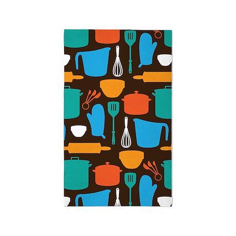 Kitchen Tool Pattern 3u0027x5u0027 Area Rug