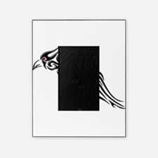 Glossy Black Raven Tattoo Picture Frame