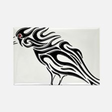 Glossy Black Raven Tattoo Magnets