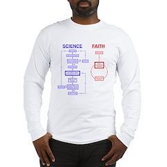 Science vs Faith Long Sleeve T-Shirt