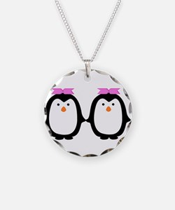Two Female Penguins Necklace