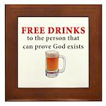 Free Drinks Framed Tile