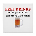 Free Drinks Tile Coaster