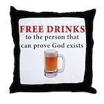 Free Drinks Throw Pillow