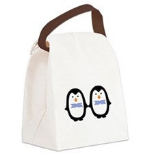 Teo Male Penguins Canvas Lunch Bag