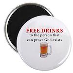 Free Drinks Magnet