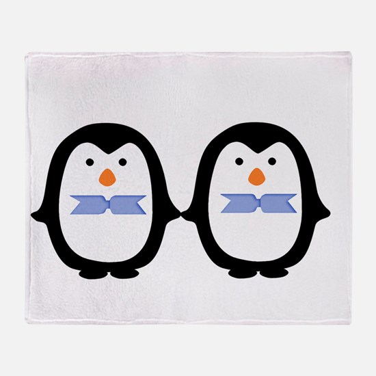 Teo Male Penguins Throw Blanket