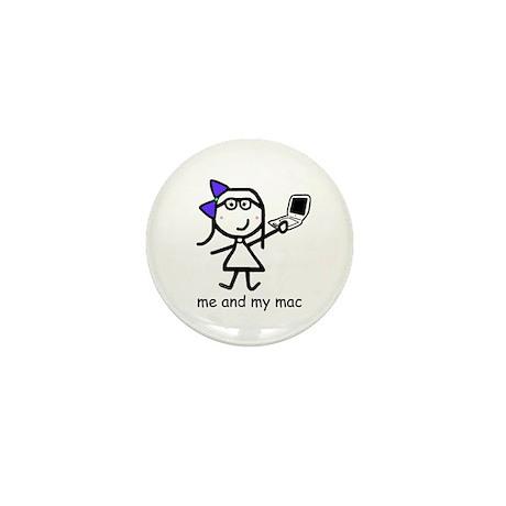Girl & Mac Mini Button (100 pack)