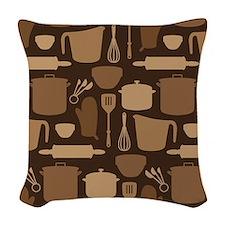 Kitchen Tool Pattern Woven Throw Pillow