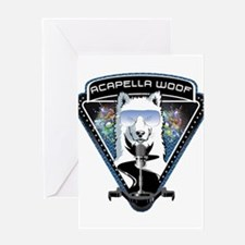 Acapella WOOF Greeting Cards