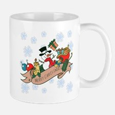 Snowman Merry Christmas Small Mugs