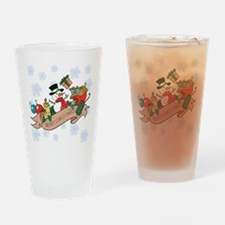 Snowman Merry Christmas Drinking Glass