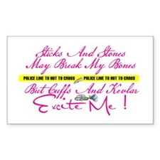Excite Me Rectangle Decal