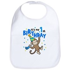 Cute First birthday monkey Bib