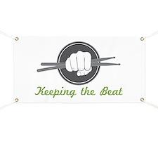 Fist With Drum Stick Banner