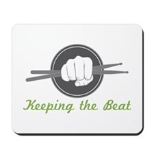 Fist With Drum Stick Mousepad