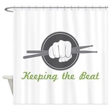 Fist With Drum Stick Shower Curtain