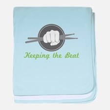 Fist With Drum Stick baby blanket