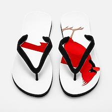 Claret Cardinal Flip Flops