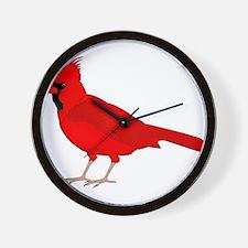 Claret Cardinal Wall Clock