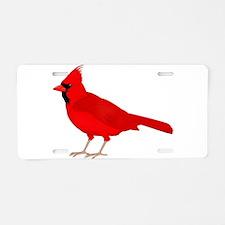 Claret Cardinal Aluminum License Plate