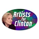 Artists For Clinton Sticker