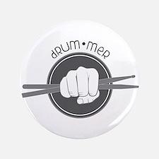 "Fist With Drum Stick 3.5"" Button"