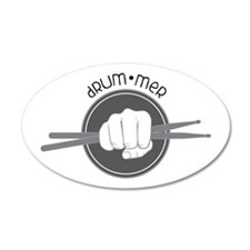 Fist With Drum Stick Wall Decal