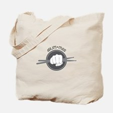 Fist With Drum Stick Tote Bag