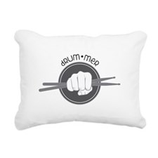 Fist With Drum Stick Rectangular Canvas Pillow