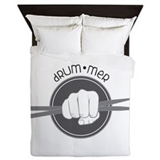 Fist With Drum Stick Queen Duvet