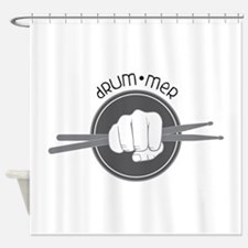 Fist With Drum Stick Shower Curtain