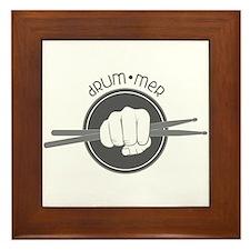 Fist With Drum Stick Framed Tile