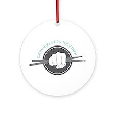 Fist With Drum Stick Ornament (Round)