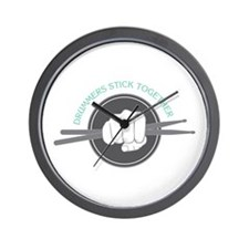 Fist With Drum Stick Wall Clock