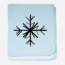 Black Snowflake baby blanket