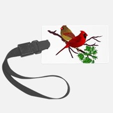Cardinal Couple on a Branch Luggage Tag