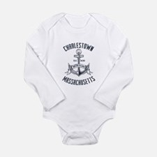 Charlestown, Boston MA Long Sleeve Infant Bodysuit