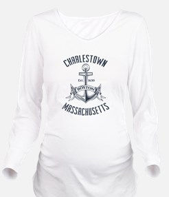 Charlestown, Boston Long Sleeve Maternity T-Shirt