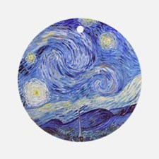 The Starry Night Vincent Van Gogh Ornament (Round)