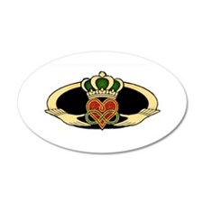 Poly Claddagh Medallion Wall Decal