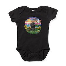AutumnSun-BlackShih Tzu.png Baby Bodysuit