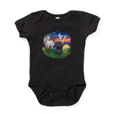 MagicalNight-Black Shih Tzu.png Baby Bodysuit